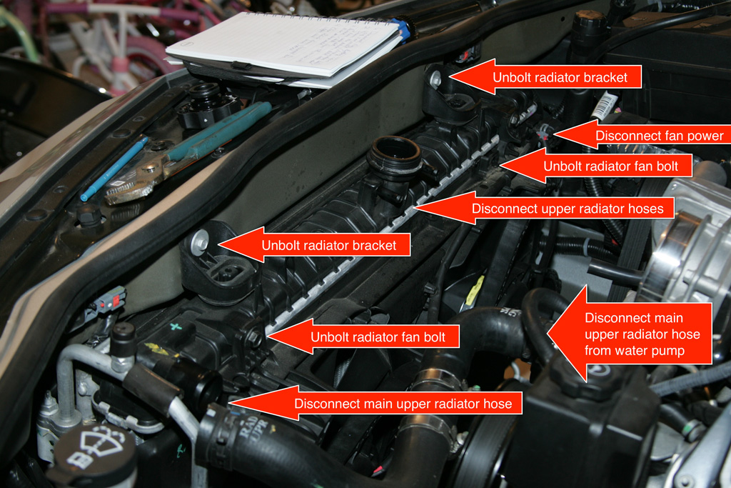 diy ls3 camshaft install a lot of pictures take a moment to 7 once all the stuff on top of the radiator is disconnected tilt it forward and unbolt the two bolts that hold the a c condenser to the radiator as there