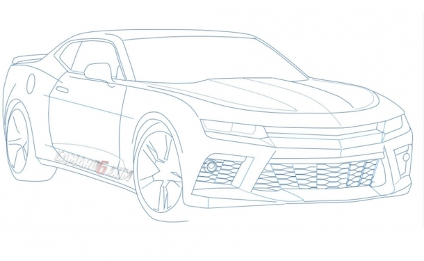 Attempt At De Camoing 6th Gen Camaro Outline Sketch on 2016 Camaro Ss