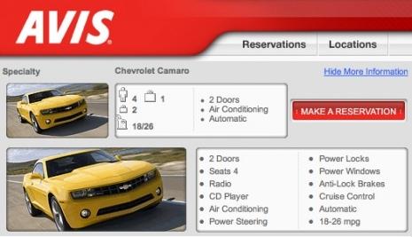 Camaro Ss Avis Rental Autos Post