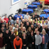 Camaro fans celebrate Scott Settlemire (Fbodfather)'s retirement party at Becky D's Warehouse